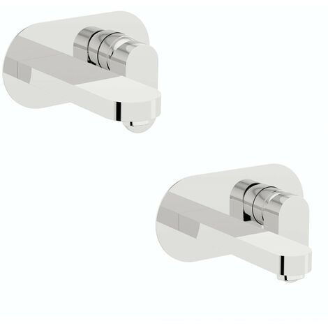 Mode Hardy wall mounted basin and bath mixer tap pack