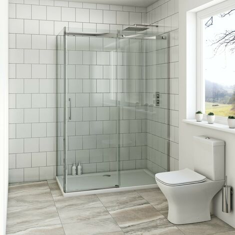 Mode Harrison 8mm easy clean rectangular shower enclosure with stone tray 1600 x 800