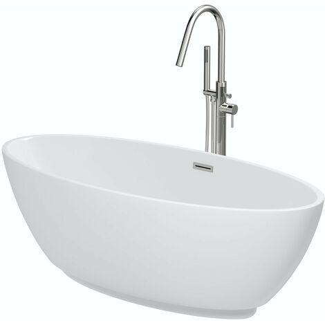 Mode Harrison freestanding bath & tap pack with Heath bath filler