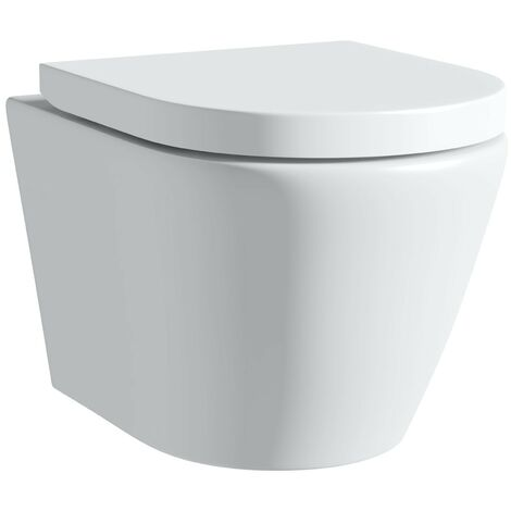 Mode Harrison rimless wall hung toilet inc soft close seat