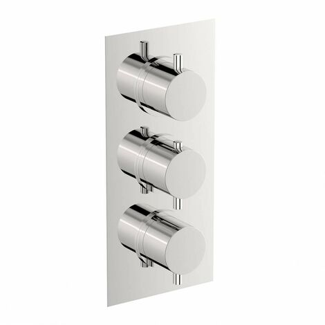 Mode Harrison square triple thermostatic shower valve