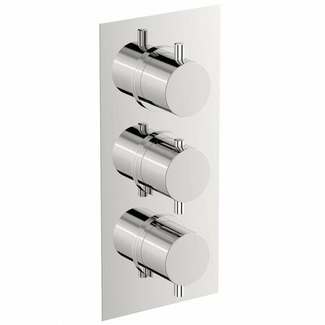 Mode Harrison square triple thermostatic shower valve with diverter