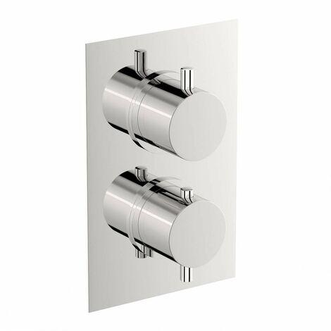 Mode Harrison square twin thermostatic shower valve