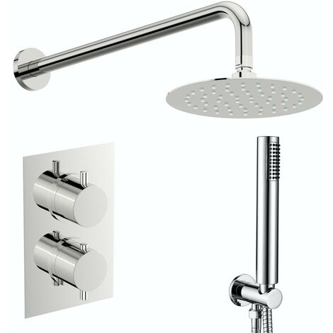 Mode Harrison thermostatic mixer shower with handset outlet