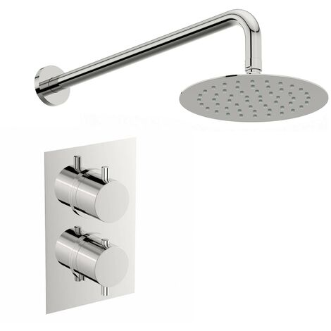Mode Harrison thermostatic mixer shower with wall shower head 400mm shower head