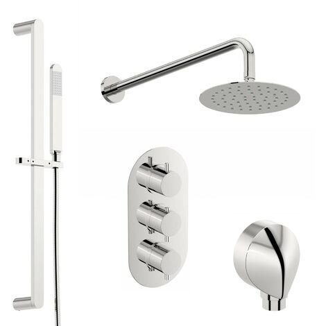 Mode Harrison thermostatic triple shower valve shower set 200mm shower head