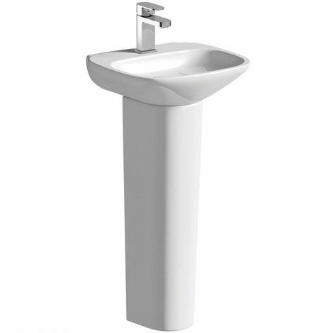 Mode Heath 1 tap hole full pedestal basin 400mm