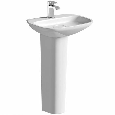 Mode Heath 1 tap hole full pedestal basin 500mm