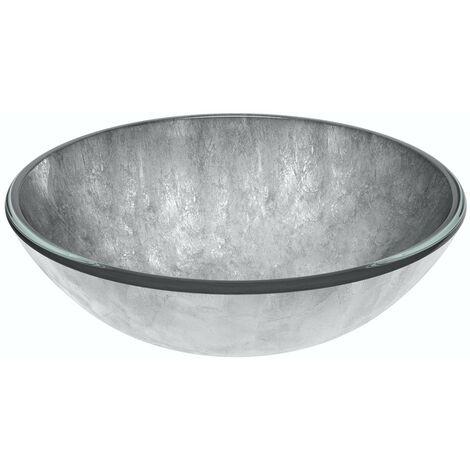 Mode Mackintosh silver foil glass countertop basin 420mm