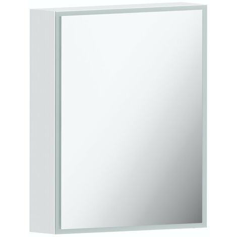 Mode Mayne LED illuminated mirror cabinet 600 x 500mm with charging socket