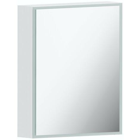 Mode Mayne LED illuminated mirror cabinet 600 x 500mm with charging socket