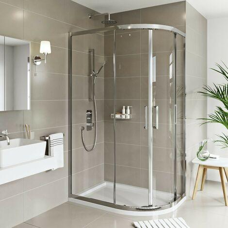 Mode Meier 8mm framed offset quadrant shower enclosure 1200 x 800
