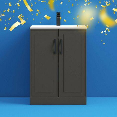 "main image of ""Mode Meier grey floorstanding vanity unit 600mm"""