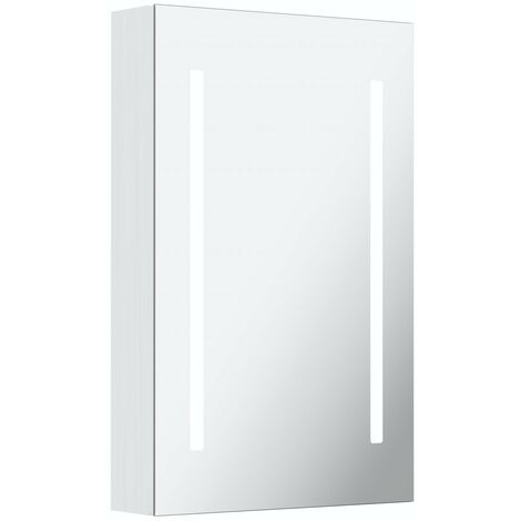 Mode Mellor LED illuminated mirror cabinet 700 x 500mm with demister & charging socket