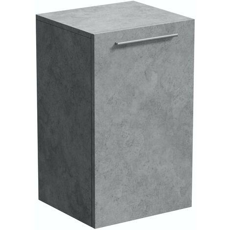 "main image of ""Mode Morris dark concrete grey wall hung cabinet 660 x 400mm"""