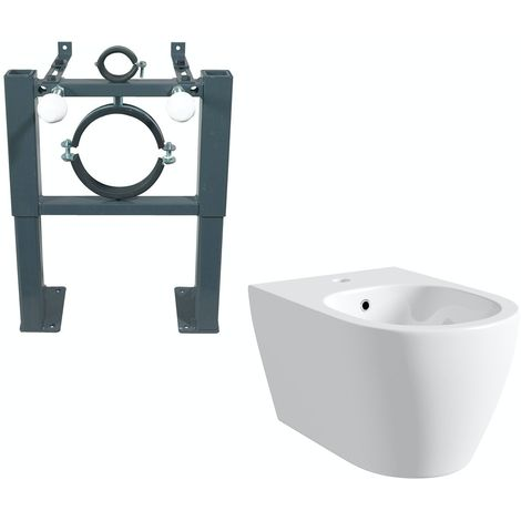 Mode Opal wall hung bidet with wall mounting bidet frame