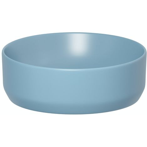 Mode Orion blue coloured countertop basin 355mm