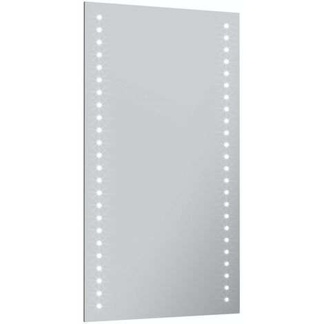 Mode Strutt battery powered LED illuminated mirror 500 x 390mm