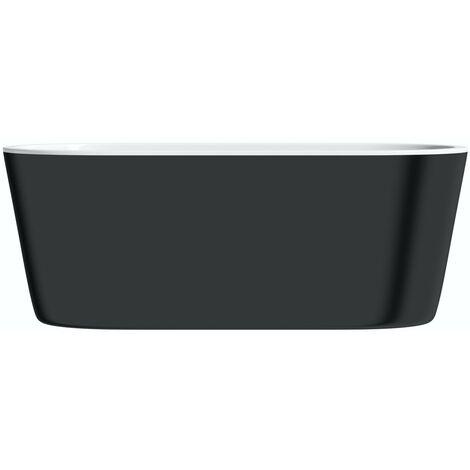 Mode Tate black freestanding bath 1500 x 700