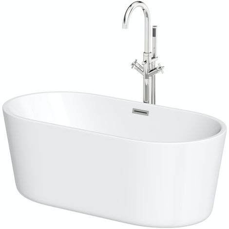 Mode Tate freestanding bath 1500 x 700 and Tate freestanding tap pack