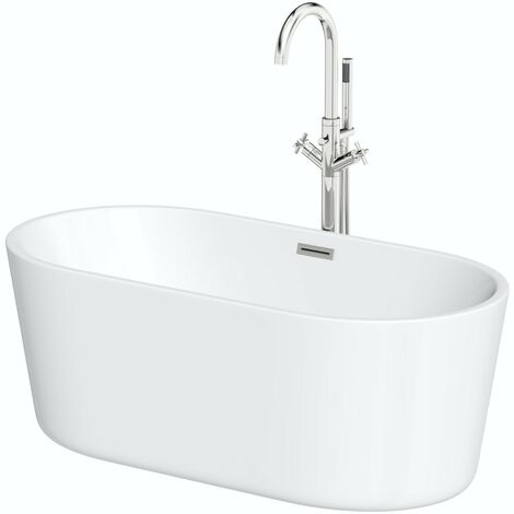 Mode Tate freestanding bath 1780 x 800 and Tate freestanding tap pack