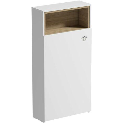 Mode Tate II white & oak back to wall toilet unit 550mm