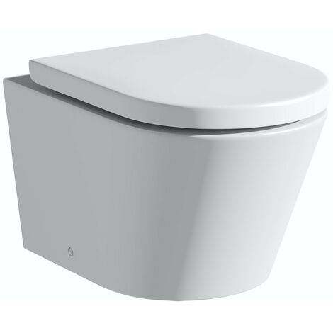 Mode Tate rimless wall hung toilet with soft close seat