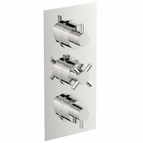 Mode Tate square triple thermostatic shower valve with diverter
