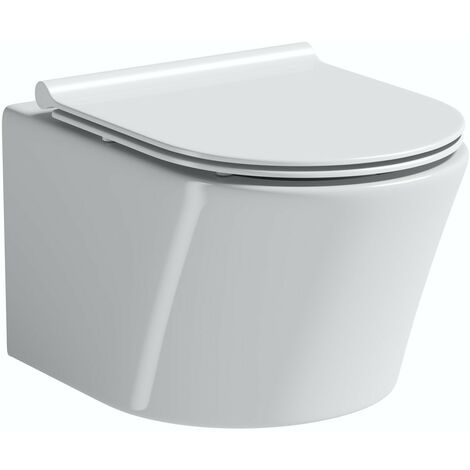Mode Tate wall hung toilet with slim soft close seat