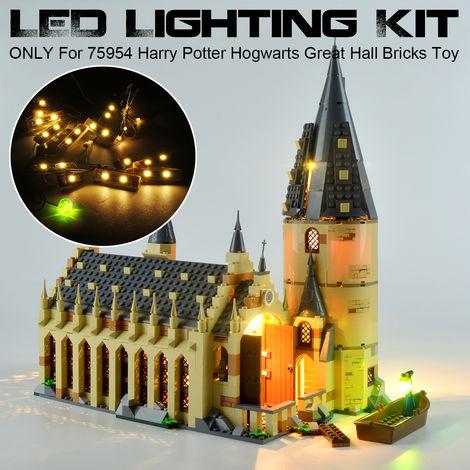 (Modelo no incluido) SOLO kit de iluminación LED para 75954 Herry Potter Hogwerts Great Hall Building Bricks Toys