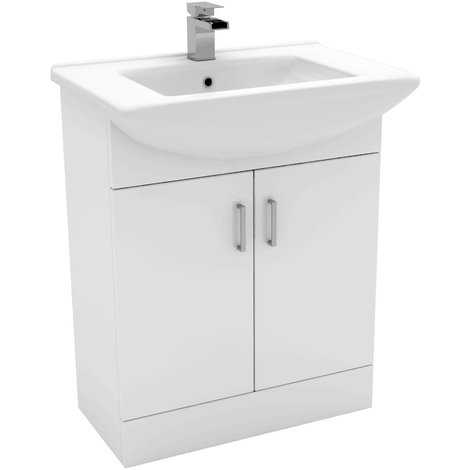 Modena 650mm Vanity Unit Including Basin with 1 Tap Hole