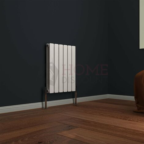 Modena Flat Double Horizontal Radiator, 600 x 408mm, White