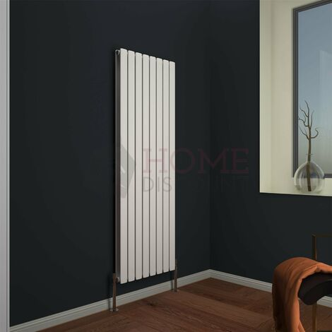 Modena Flat Double Vertical Radiator, 1600 x 544mm, White