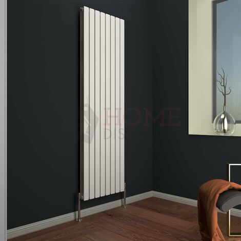 Modena Flat Double Vertical Radiator, 1800 x 544mm, White