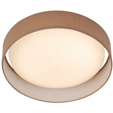 MODERN 1 LIGHT LED FLUSH CEILING LIGHT, ACRYLIC, BROWN SHADE