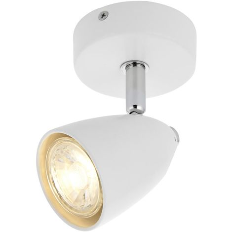 Modern 1 Light LED Round Ceiling / wall Spotlight In White 76-028