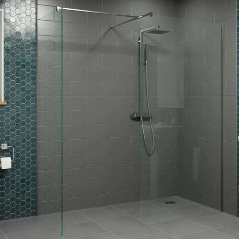Modern 1000mm & 800mm Wet Room Screens Walk In Enclosure 8mm Safety Glass Panels