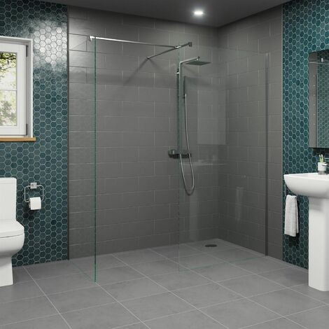Modern 1100mm & 900mm Wet Room Screens Walk In Enclosure 8mm Safety Glass Panels