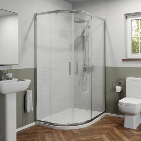 Modern 1200 x 800mm Left Hand Offset Quadrant Shower Enclosure Framed 6mm Glass