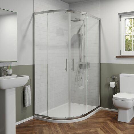 Modern 1200 x 900mm Left Hand Offset Quadrant Shower Enclosure Framed 6mm Glass