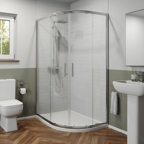 Modern 1200 x 900mm Right Hand Offset Quadrant Shower Enclosure Framed 6mm Glass
