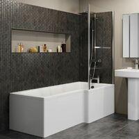 Modern 1600mm Right Hand L Shaped Shower Bath Only Bathtub Acrylic Bathroom Tub