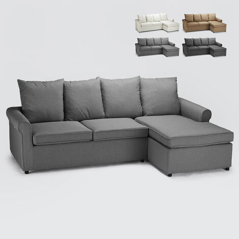 Modern 2-seater corner sofa bed with removable cover LAPISLAZZULI PLUS
