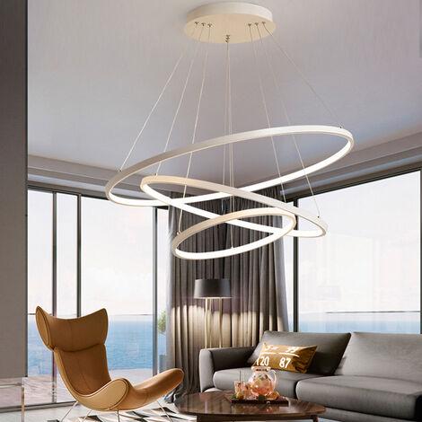 Modern 3 Circle Shape LED Chandelier Ceiling Light , 20+40+60CM Dimmable