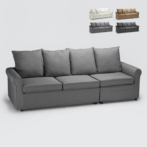 Modern 3-seater sofa bed with removable cover LAPISLAZZULI