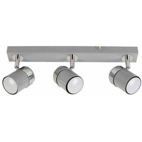 Modern 3 Way Adjustable Straight Bar Ceiling Spotlight Fitting