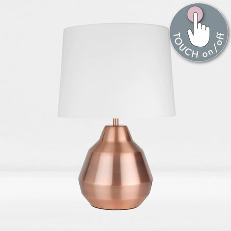 Modern 39cm Touch Operated Table Lamp Bedside Lights with Shades