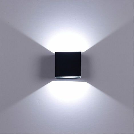 Modern 6W LED Downlight Wall Light, Wall Sconce, Bedroom Light Fixture (Black)