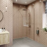 Modern 800mm Walk In Wet Room Shower Screen Panel Easy Clean 8mm Safety Glass