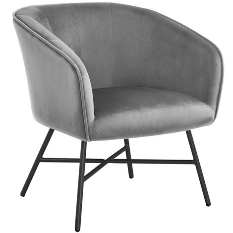 """main image of """"Modern Accent Chair Soft Velvet Tub Chair Side Armchair Sofa Lounge Upholstered Back Sturdy Metal Legs for Living Room Cafe Home"""""""